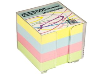 Coloured paper cube with support 800sheets Forster