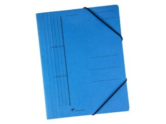 Envelope-colored cardboard file with elastic
