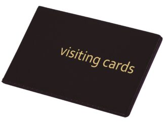 Business card book for 24 PVC black