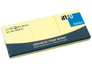 Sticky notes Info Notes 40 x 50mm, 100 sheets/item, 3/set
