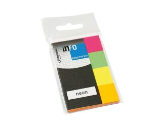 Pagemarker neon Info Notes 20x50mm 4/set 200 sheets
