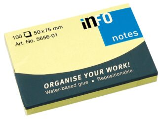 Sticky notes Info Notes 50 x 75mm, 100 sheets