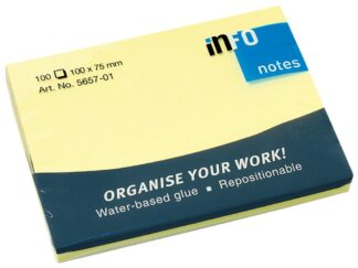 Sticky notes Info Notes 75 x 100mm, 100 sheets
