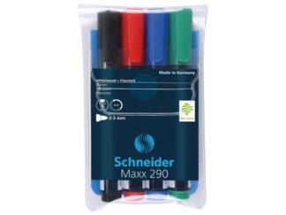 Whiteboard marker Schneider 4 colours/set