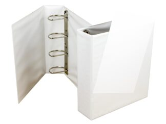 Ringbinder 80mm, 4 rings with pocket