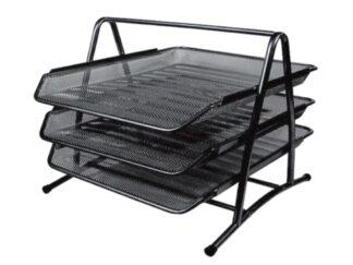 File trays 3pcs/set black Office