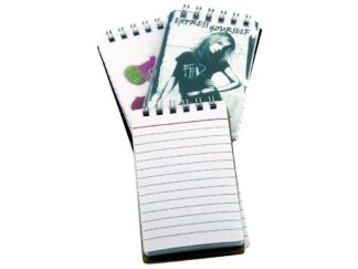 Notebook 100x60mm with rings