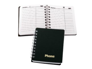 Phone Notebook with rings 100x80 mm