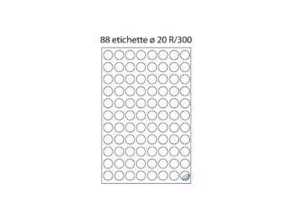 Labels 88/A4 O20 100/box