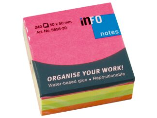 Sticky notes brilliant cube Info Notes 50x50mm, 240 sheets