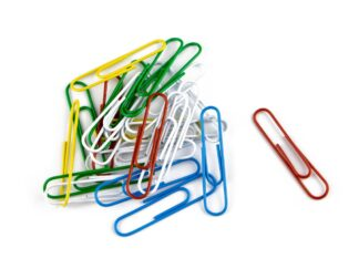 Paperclips color, 50mm, no.5, 100/box