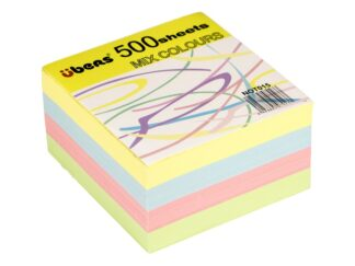 Coloured paper cube 500sheets refil Ubers
