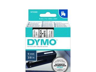 Dymo Labeling Tape 9mm x 7M Black On White 40913