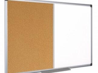 BI-OFFICE Combination Cork/Whiteboard - Aluminum Frame