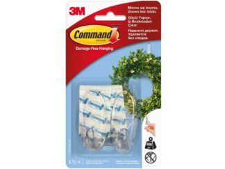 Medium hook 2 hooks + 4 double adhesive tapes / 3M Command package