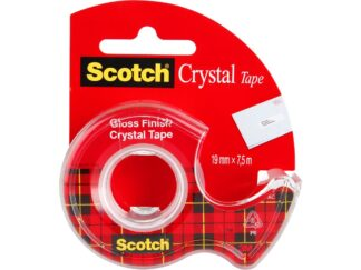 Adhesive tape Scotch Crystal 19mmx7.5m with dispenser 3M