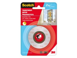 Indoor Mounting Tape transparent Scotch 19mmx1.5m 3M