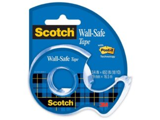 Adhesive tape Scotch Wall Safe 19mmx16,5m with dispenser 3M