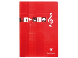 Music copybook A4 stapled 24 files 10 portable Clairefontaine Metric