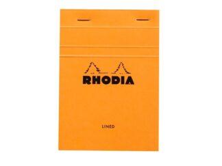 Rhodia ORANGE head stapled pad N°13, 10,5x14,8cm, 80sh. lined 80g