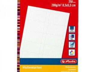 Herlitz Business Cards 250pcs - 200gr - 8.5 x 5.5 cm