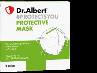 DrAlbert FFP2 Particle filtering half mask without valve MPR-1504 - 10EA