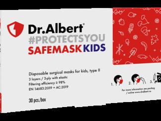 SAFEMASK KIDS - Disposable surgical masks for kids, type II - 30EA