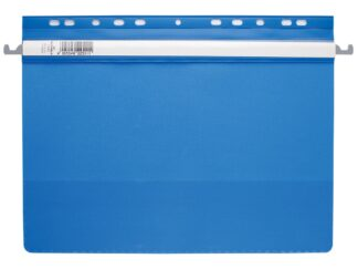 Plastic flat hanging file folder, punched Durable