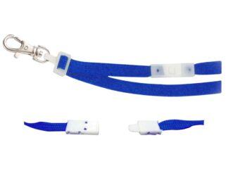 Textile badge necklace 10mm