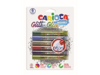 Glitter with multicolored glitter Carioca 6x10,5 ml