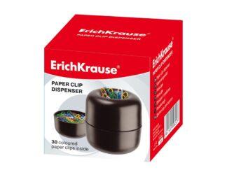 Paper clip dispenser with coloured clips, 30 pcs EK