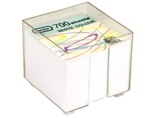 White paper cube with support 700sheets Forster