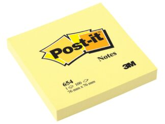 Sticky notes Post-it 76x76mm 100 sheets Canary Yellow 3M