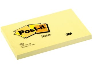Sticky notes Post-it 56x127mm 100 sheets Canary Yellow 3M