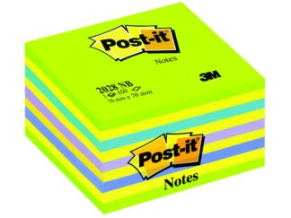 Sticky cube Post it neon 76x76mm 450sheets 3M