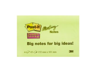 Conference super sticky notes Post-it 152x101mm, 4x45 sheets 3M
