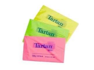Sticky notes neon Tartan 76x127mm 100sheets