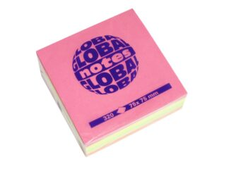 Brilliant Mix Cube,320 sheets per cube, 75x75mm, Global Notes