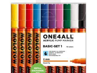 Acrylic marker One4All 127HS 2 mm Wallet Basic-Set 1 10 pcs.