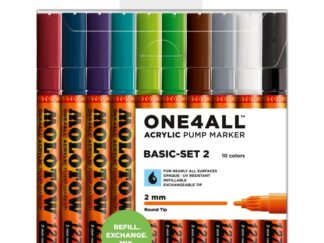 Acrylic marker One4All 127HS 2 mm Wallet Basic-Set 2 10 pcs.