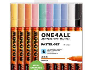 Acrylic marker One4All 127HS 2 mm Wallet Pastel-Set 10 pcs.