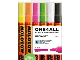 Acrylic marker One4All 227HS 4 mm Wallet Neon-Set 6 pcs.