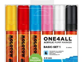 Acrylic marker One4All 327HS 4-8 mm Wallet Basic-Set 6 pcs.
