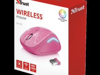 Trust Yvi FX Wireless Mouse - pink