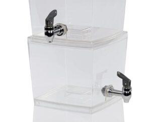 Juice dispenser 2 containers,5.6 L/REC