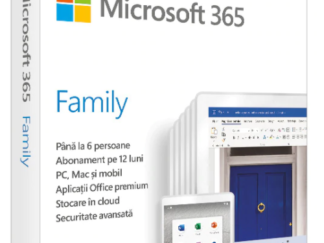 Retail Cloud License Microsoft 365 Family Romanian Subscription 1 year Medialess P6