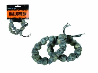 Set 2 bracelets death head, plastic