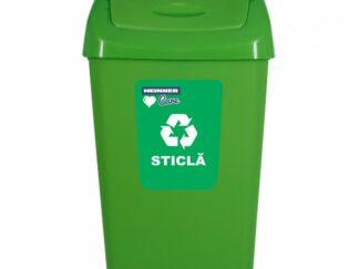 Trash can + LID, RECYCLING 25 L, GREEN