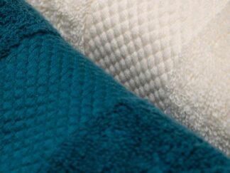 SET OF 4 BATH TOWELS 30X50 CM - BLUE MIX