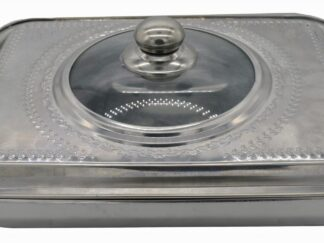 OVEN TRAY WITH LID, STAINLESS STEEL, 35x26x7 CM